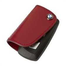 BMW Genuine Red Leather Key Case with BMW Roundel Logo 80232149933
