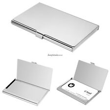 Portable Stainless Silver Metal Pocket Slim Credit Card Holder Thin Wallet BYU8