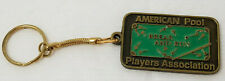 Vintage American Pool Players Association Break and Run Keychain Brass