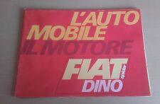 FIAT DINO SPIDER BROCHURE CATALOG CATALOGUE PROSPEKT KATALOG BROSCHURE 1967-68