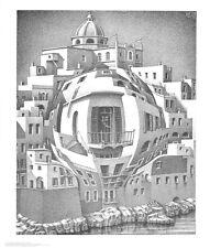 MC Escher Balkon Poster Kunstdruck Bild 65x55cm
