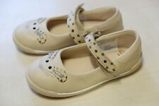 Clarks Iva Pip Beige leather Baby girl shoes size 6.5/23 F RRP£25