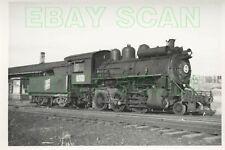8C583 RP 1961 SYDNEY LOUISBURG RAILROAD 2-6-0 LOCO 82 SPRINGHILL NS CC&RY DEPOT