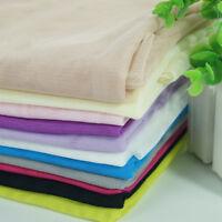 Gauze Fabric Material Plain Soft Cloth Eco Craft Dress Curtain Mosquito Net Cosy