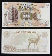 Uganda Paper Money 10 Shillings 1979 UNC