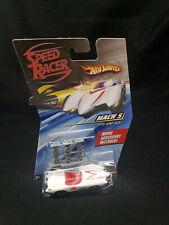 Hot Wheels 2007 Speed Racer Mach 5 Race Car with Jump Jacks 1:64 Scale NIP