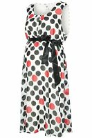 MAMALICIOUS MATERNITY 'DOTTO' RETRO SPOTTED PARTY  DRESS SIZE 8 10 12 14 BNWT