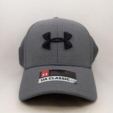 Under Armour Grey Ball Cap Black Logo Men's Sz. M/L Classic Fit Sticker Attached