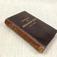 1888 Antik Leder Bund Französisch Poetry 19th Jahrhundert Poems Anthology Selten