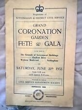 Grand Coronation garden fete and gala , Nottingham Civil service 1953 .
