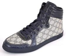 New Gucci Men's 243827 GG Supreme Canvas Caiman Alligator High Tops Shoes 15 G