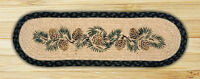 """PINE CONES 100% Natural Braided Jute Rug, 27"""" x 8.25"""" Oval, Capitol Earth Rugs"""