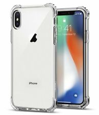 FUNDA iPhone X Spigen® [Rugged Crystal Clear] Panel Trasero TRANSPARENTE NUEVA