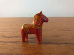 MINIATURE SWEDISH DALA HORSE RARE 3 X 3 CMS ORIGINAL NILS OLSSON