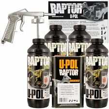 U-POL Raptor 821 Tintable Truck Bed Liner Kit w/ Spray Gun, 4L Upol