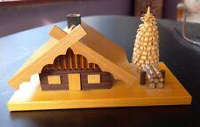 Original Erzgebirge Smoking Christmas Cabin