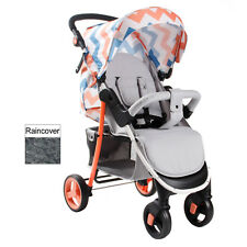 MY BABIIE CORAL CHEVRON BILLIE FAIERS COLLECTION BABY PUSHCHAIR STROLLER