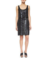 48a91f4c618 AIDAN MATTOX ~ Black Chiffon Deco Beaded Blouson Cocktail Dress Size 2 NWT