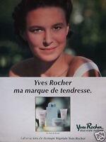 PUBLICITÉ 1998 YVES ROCHER LES SOINS DE BEAUTÉ - ADVERTISING