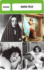 FICHE CINEMA :  MARIA FELIX -  Mexique (Biographie/Filmographie)