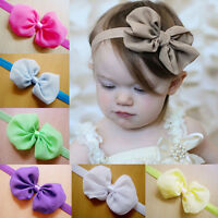 Lovely Kids Girl Baby Headband Toddler Lace Bow Flower Hair Band Accessories WB