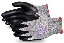 Tenactiv Corte resistencia Negro De Espuma De Nitrilo Palm seguridad Guantes Talla 10