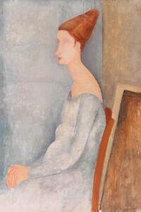 Portrait of Jeanne Hébuterne by Amedeo Modigliani 60cm x 40cm Art Paper Print