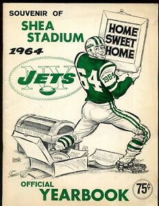 1964 AFL Football New York Jets Yearbook VG/EX