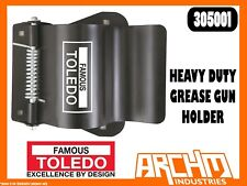 TOLEDO 305001 - HEAVY DUTY GREASE GUN HOLDER - STEEL FOUR BOLT MOUNTING STURDY