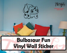 Pokemon Bulbasaur Fun Custom Wall Vinyl Sticker