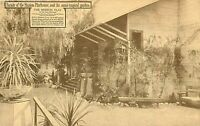 DB Postcard CA H122 Facade Mission Playhouse Semitropical Garden San Gabriel LA