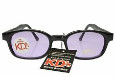 KD's Sunglasses Original Biker Shades Motorcycle Black Purple Lens 21216