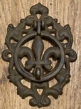 Wrought Iron Door Knocker Fleur De Lis Rustic