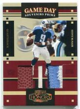 2004 Playoff Honors Game Day Souvenirs Steve McNair Triple Ball Lace Patch 3/25
