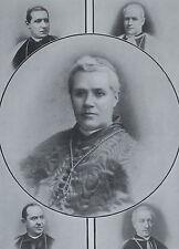 Giuseppe Sarto Pope Pius X Cardinal Gotti Rampolla Vannutelli 1903 Photo Study