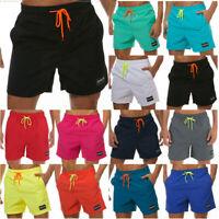 Mens Summer Swimming Drawstring Board Trucks Sport Beach Swim Shorts Beachwear