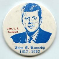 John F Kennedy 35th President JFK Button MIrror 1917 - 1963 Pin - BK997