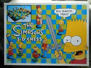 THE SIMPSONS 3-D CHESS BOXED SET 1997
