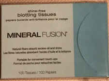 Mineral Fusion Shine-Free Blotting Tissues, 100 Count Papers