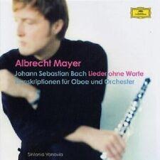 """Albrecht Mayer """"chansons sans mots"""" CD NEUF"""