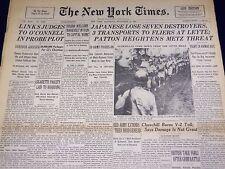 1944 NOVEMBER 11 NEW YORK TIMES - PATTON HEIGHTENS METZ THREAT - NT 2803