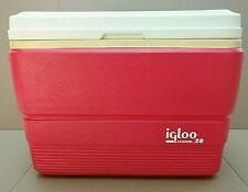 New listing Vintage Igloo Legend 28 Cooler made in Usa ~ Coral Pink Color.Fish Ruler
