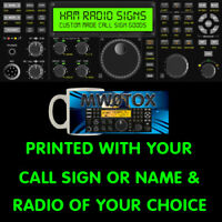 HAM AMATEUR RADIO CALL SIGN OR NAME & ANY HF VHF UHF RADIO PERFECT CUPPA