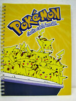 POKEMON Quaderno a righe di 5a NINTENDO 2000 cm. 22x17 pag. 60/120