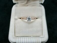 Vintage 1940's 10kt Yellow Gold Engagement Ring w/.25 Carat Diamond SZ 7