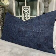 "Modern Cushion Cover 12""x20"" John Lewis & Partners Design Project Fabric Navy"