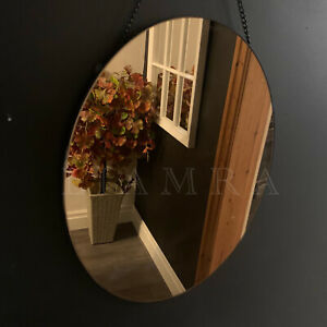 Oval Hanging Mirror Copper Glass Hanging Wall Mirror Oval Wall Art Copper Mirror