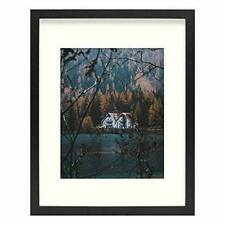 11x14 Frame for 8x10 Photo Smooth Wood Grain Finish Frame with Ivory Mat for