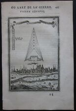 1684 SPIR view etching Alain Manesson Mallet fortifications Speyer Spira