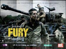 FURY Affiche Cinéma GEANTE / WIDE Movie Poster 4Mx3 BRAD PITT Shia LaBeouf